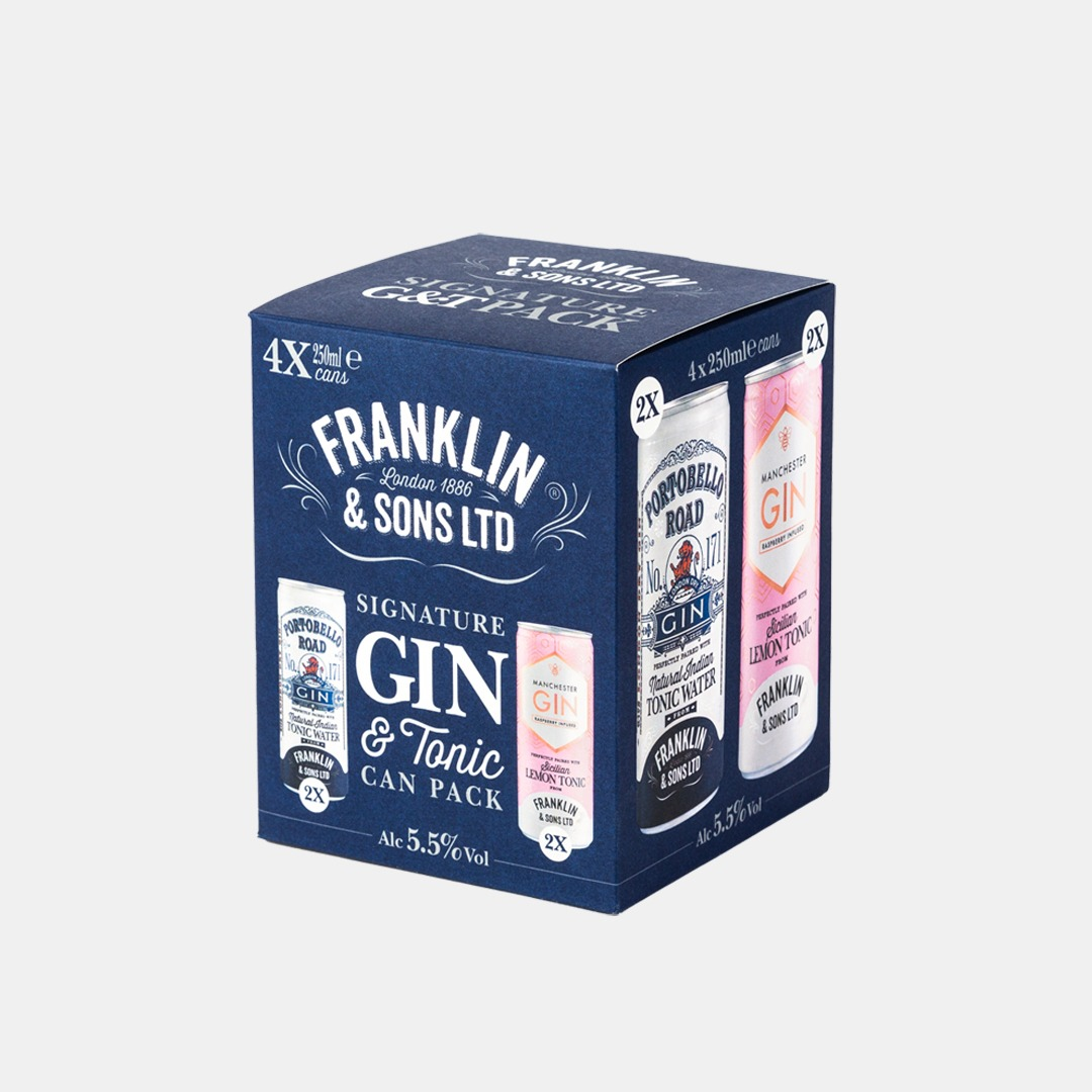 Good Time In | Franklin & Sons Ltd - Gin & Tonic Can Pack